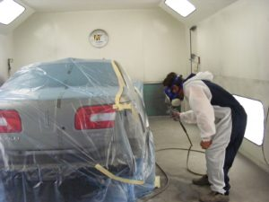Body shop paint work