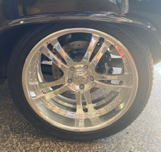 Clean wheel rim